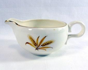 Vintage 1950s Golden Wheat Versatile Porcelain Creamer Gold TrimTaylor Smith Taylor