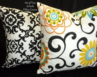 Decorative Pillows, Throw Pillows, Pillow Covers, Accent Pillows, Home Decor - Set of Two 18 Inch