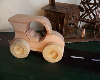 Wood Toy Car Handcrafted for the Kids, Children, Toddlers