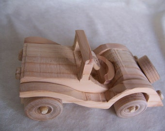 Sports Car, British MG Style, Handcrafted for the Kids, Boys and Girls Gifts from Reclaimed Wood
