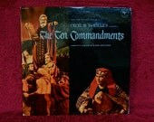 CRAZY CUPID SALE Rare...The Ten Commandments...Original Motion Picture Soundtrack - 1956 Vintage Vinyl 2 lp Gatefold Record Album