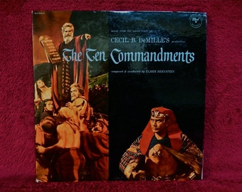 RARE...The TEN COMMANDMENTS...Original Motion Picture Soundtrack - 1956 Vintage Vinyl 2 lp Gatefold Record Album