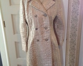 Gold Lame Evening Coat with rhinestone buttons