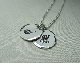 Initial Necklace Sterling Silver Monogram Necklace Personalized Mothers Necklace Personalized Necklace Personalized Jewelry Gift for Mom