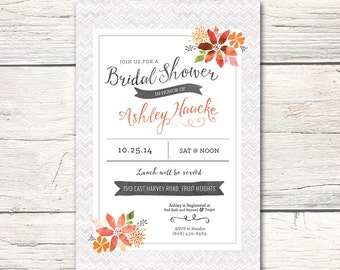 Bridal Shower Invitation - DIGITAL - Watercolor