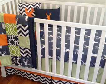 view boy crib beddingmaxandgrace on etsy
