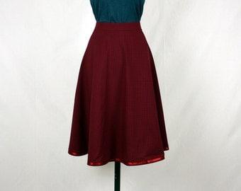 Full Cirkle Skirt Bordeaux Red 50s Skirt *sale* *ready to ship*