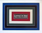 Custom Cut DOUBLE Mat...1 opening...Up to 16x20 inch outside dimension...Acid Free Mat Board...Bevel Cut...Archival...Any Color