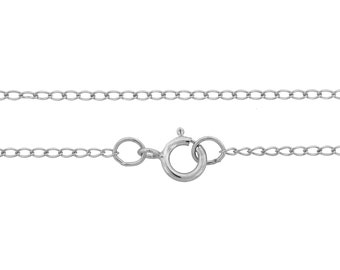 Sterling Silver 2x1.2mm 18 Inch Curb Chain with clasp - 5pcs  - 20% OFF QUANTITY DISCOUNT (3328).5