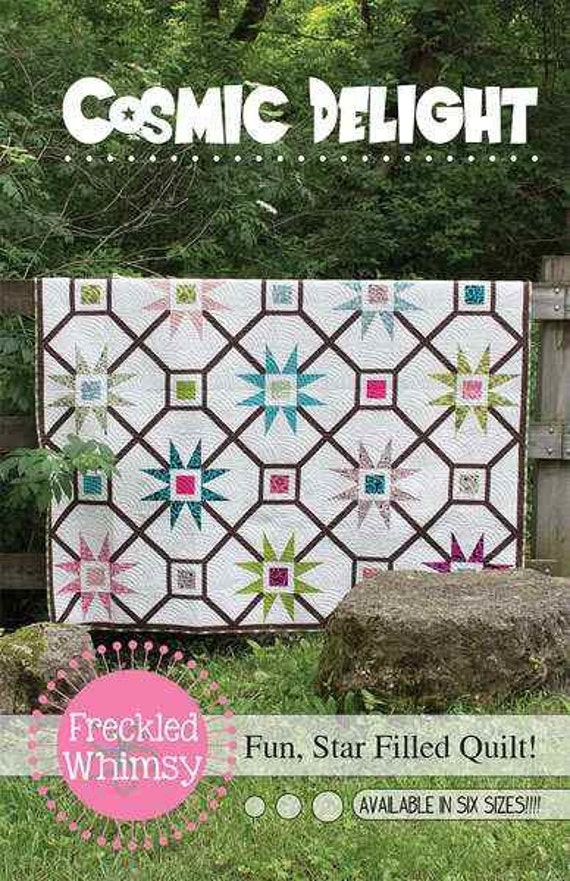 Cosmic delight quilt pattern by freckled whimsy for Cosmic pattern clothing