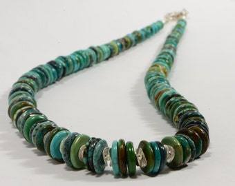 Nevada Turquoise Necklace Turquoise Beads Natural Gemstone Beaded Jewelry