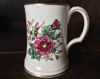 Vintage English Large Ridgways Tea Coffee Tankard Beer Cup Mug circa 1960's / English Shop