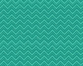 Silly Gilly & Friends Teal Chevron by Leanne Anderson and Kaytlyn Anderson for Henry Glass