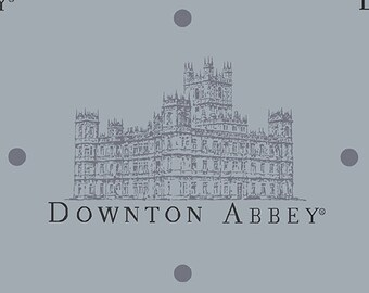 Downton Abbey Grey Portrait Fabric by Andover