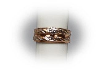 10K Yellow Gold Engagement Ring Set