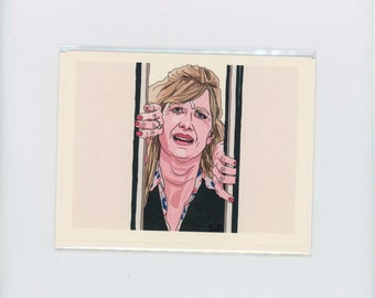 LAURA DERN CRYING - Enlightened -  Laura Dern Card - Mike White - Laura Dern - Meltdown - Amy Jellicoe - Enlightened Card - Item M126