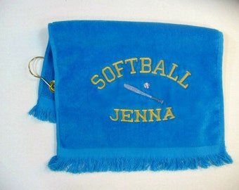 Softball sports towel