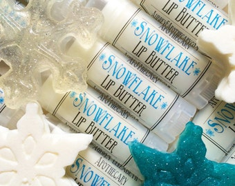 Snowflake Chapstick- Winter Lip Butter - Frozen Vanilla Mint