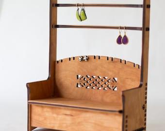 Celtic Wood Jewelry Bench Box