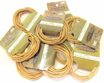 9 Packs of Natural Leather Cord / 1mm and 2mm Round Leather Lace