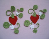 Mini Strawberry with Vine Die Cut Embellishments for Cards Scrapbooking and Paper Crafts Strawberries Fruit Plant Grow