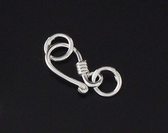 10 of 925 Sterling Silver Clasps 11mm. :th0830