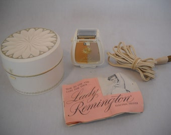Vintage Lady Remington Electric Shaver Kit