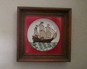 "Framed Painted Bowl Art 9 1/2"" X 9 1/2"""