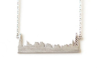 Cityscape Necklace- Chicago / choose your color- gold,silver,pink gold, skyline necklace