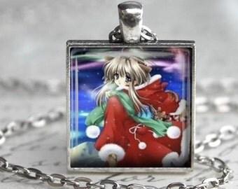 Christmas Anime Necklace - Anime Charm - Free Chain or Keyring (250)