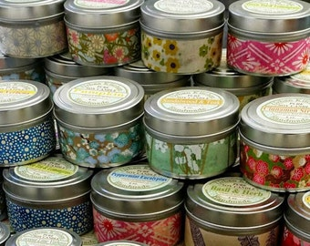 Blue Spruce Soy Candle -  6 oz.  Tin, Christmas, Christmas scent, soy candle, Blue Spruce, fragrance