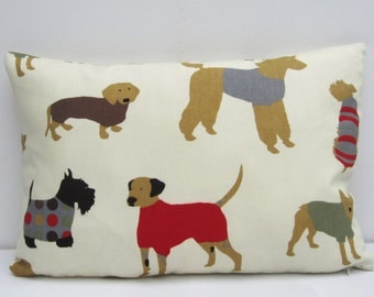 Dog Cushion Cover, Dog Pillow Cover, Dog,  Bolster Pillow cover, Oblong Cushion Cover, Choose Size 12x18, 12x20, 12x22 up to 12x24 Inch