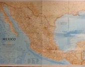 Folded Map Traveler's Map Poster Mexico 1994 National Geographic
