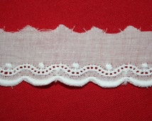 Swiss Batiste Embroidered Edging