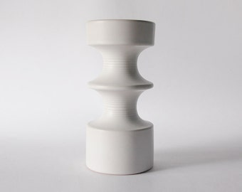 Rare Large White Steuler Candle Holder Continua - 1960s