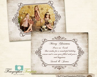 Holiday Photo Card Template for Photographers PSD - AM02