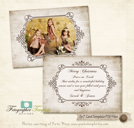 5x7 postcard mailing template - christmas 5x7 photo card templates for photographers psd