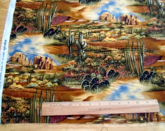 Desert View desert scenic premium cotton quilting fabric from Michael Miller - end of bolt 1.25 yards
