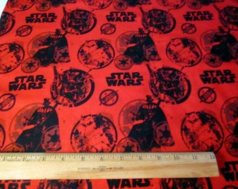 Star Wars III - Danger in Red Camelot Cottons premium cotton fabric - darth vader, stormtroopers