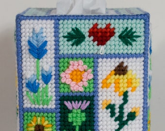 Flower Garden Tissue Box Cover