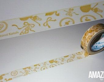 Shinzi Katoh washi tape - ballerina Japanese Washi Tape - Paper Masking Tape