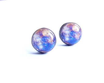 Mercury Stud Earrings Mercury Studs Posts Solar System Earrings Space Studs Galaxy Earrings Space Jewelry