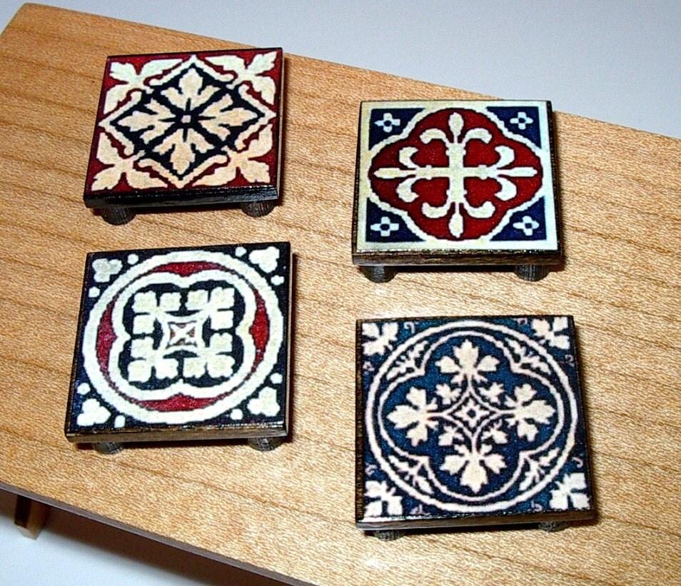 Kitchen Trivets: Medieval Kitchen Trivets Set Of 4 Trivets Dollhouse