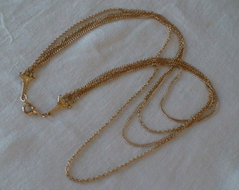 Artistry Cascading Four-Strand Gold Chain