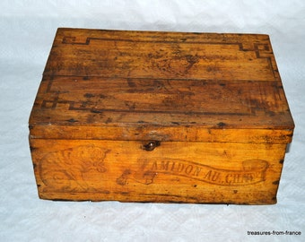 French vintage amidon everley grand prix 1900 paris wooden box
