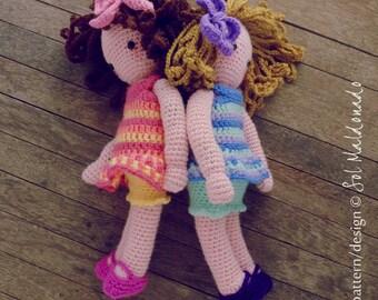 Amigurumi Doll Crochet Pattern PDF - Girls Doll - Instant Download