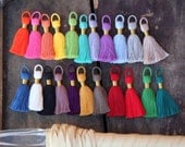 "NEW Colors, Tasseltastic: 8+ Handmade Cotton Tassels for Jewelry Making, Designer Quality Tassel for Necklaces, 2 3/8"", You Choose Colors"