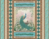 Quilt Pattern - Graceful Splendor  - Beautiful Panel Quilt Pattern