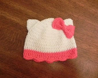 Hello Kitty Crochet Beanie
