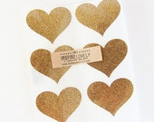 Gold Glitter Heart Seal Stickers, perfect for sending happy mail and Valentine's